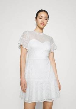 Nly by Nelly - FLOUNCE DRESS - Juhlamekko - white