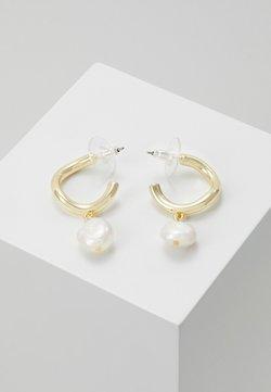 SNÖ of Sweden - MAXIME OVAL EAR - Earrings - gold-coloured/white