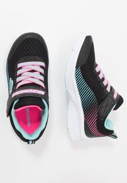 Skechers - MICROSPEC - Sneaker low - black/aqua/neon pink