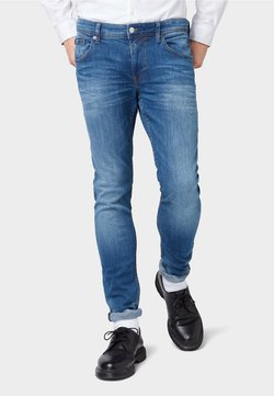 TOM TAILOR DENIM - Jeans Slim Fit - used dark stone blue denim