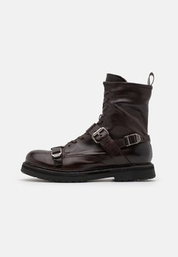 A.S.98 - REPUNK - Cowboy/biker ankle boot - fondente