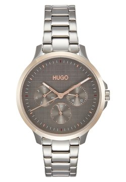 HUGO - DESIRE - Montre - silver-coloured/rosegold-coloured