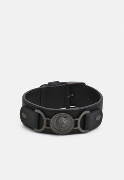 Guess - LION COIN WIDE BRACELET - Bracelet - gunmetal/black