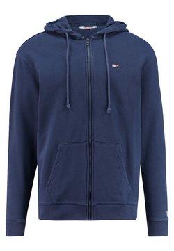 Tommy Jeans - CLASSICS ZIPTHROUGH - veste en sweat zippée - marine