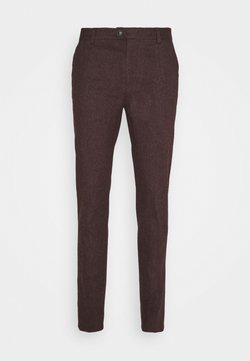 Scotch & Soda - MOTT CLASSIC IN BRUSHED YARN DYED QUALITY - Chinot - bordeaux