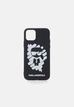 KARL LAGERFELD - IKONIK GRAFFITI CASE 11P - Kännykkäpussi - black