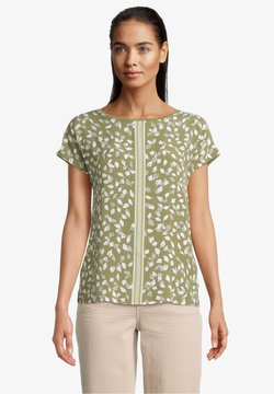 Betty & Co - T-Shirt print - khaki/cream