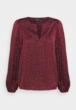 GAP - SPLIT BLOUSON - Bluse - burgundy