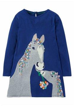 Boden - MIT GROSSER APPLIKATION - Freizeitkleid - segelblau pferd