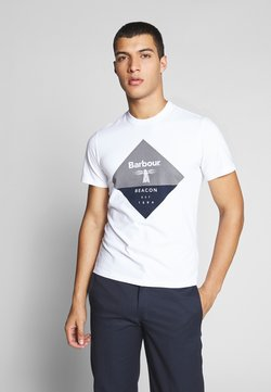 Barbour Beacon - DIAMOND TEE - T-shirt print - white