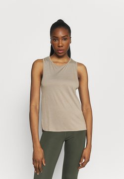 Casall - DRAPY MUSCLE TANK - Top - comfort grey
