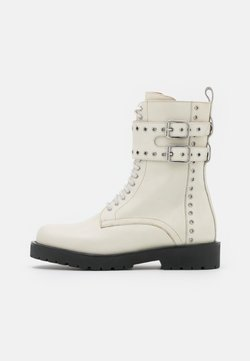 TWINSET - ANFIBIO MICRO OCCHIELLI - Lace-up ankle boots - neve
