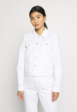 Marc O'Polo - JACKET BUTTON CLOSURE GARMENT DYED - Jeansjacka - soft white