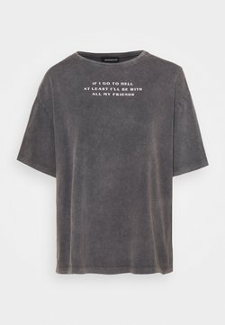 Even&Odd - T-shirts med print - black