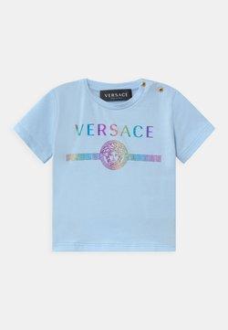 Versace - MAGLIETTA MANICA CORTA UNISEX - T-shirt print - azzurro