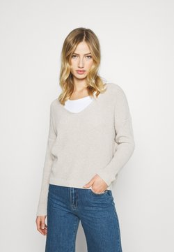 ONLY - ONLBRYNN LIFE VNECK - Maglione - pumice stone