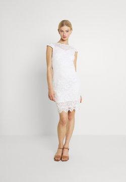 Vila - VIEDELLE CAPSLEEVE DRESS - Kotelomekko - snow white
