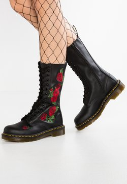Dr. Martens - VONDA 14 EYE BOOT - Schnürstiefel - black/rose