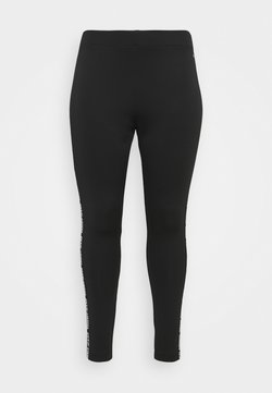 Tommy Jeans Curve - SKINNY TAPE - Leggings - Trousers - black