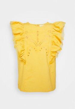 VILA PETITE - VICASANDRA - T-shirt z nadrukiem - golden apricot