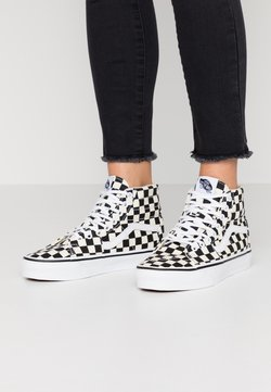 Vans - SK8 TAPERED - Korkeavartiset tennarit - black/true white