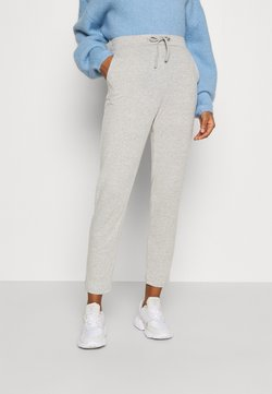 Vila - VILUNE PANTS - Jogginghose - super light grey melange