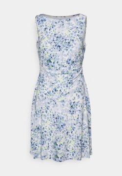 Lauren Ralph Lauren Petite - XAMIRA SLEEVELESS DAY DRESS - Freizeitkleid - col cream/blue/multi