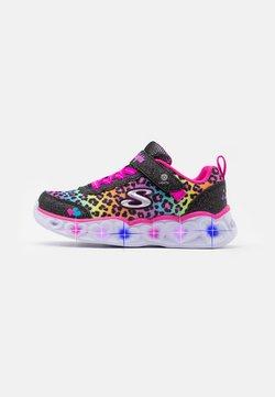 Skechers - HEART LIGHTS - Sneaker low - black/multicolor