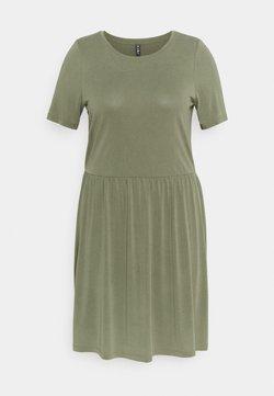 Pieces Curve - PCKAMALA DRESS - Vestido ligero - deep lichen green