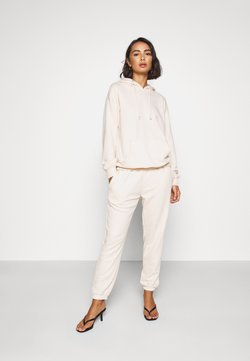 Missguided Petite - HOODIE AND JOGGER SET - Chándal - stone