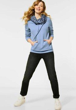 Cecil - MIT ANIMAL-PRINT - Sweatshirt - blau