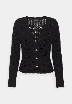 Monki - PEARL CARDIGAN - Vest - black