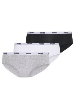 Puma - HIPSTER 3 PACK - Slip - white/grey/black
