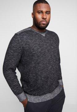 TOM TAILOR MEN PLUS - PLATED SWEATER - Pullover - dark greyish black            grey,