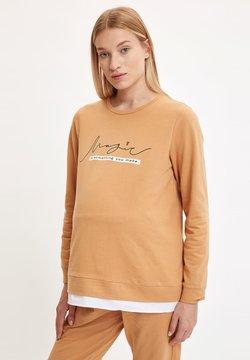 DeFacto - Camiseta de manga larga - brown