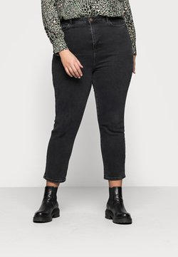 New Look Curves - CAMBODIA - Jeans Straight Leg - black