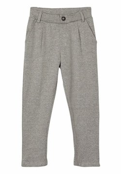 Name it - GEMUSTERTE - Pantalon - grey melange