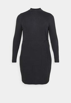 Vero Moda Curve - VMNORA SHORT DRESS CURVE - Jerseykleid - black
