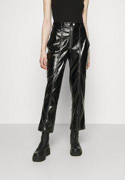 NA-KD - CONTRAST SEAM PANTS - Trousers - black