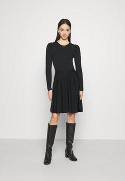 YAS - YASBECCO PUFF SLEEVE DRESS - Freizeitkleid - black