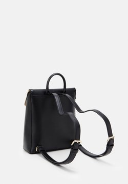 DKNY - BRYANT PARK TOTE LOGO WITH TRIM - Tagesrucksack - black/gold