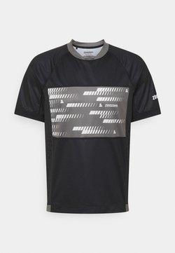 Zimtstern - TECHZONE MENS - T-shirt print - pirate black/gun metal
