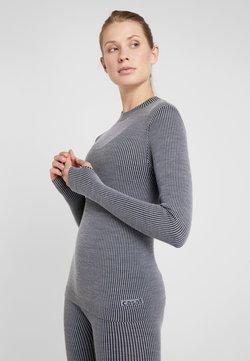 Casall - LONG SLEEVE - Pitkähihainen paita - black/grey