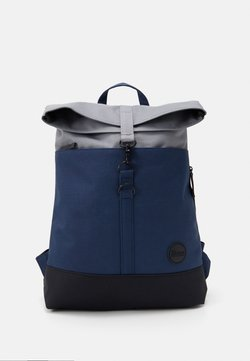 Enter - CITY FOLD TOP BACKPACK - Reppu - navy/black recycled base/grey top