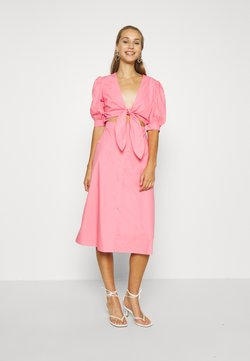 NA-KD - HOSS X FRONT TWIST DRESS - Cocktailkleid/festliches Kleid - pink