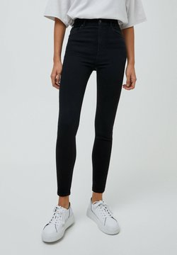 PULL&BEAR - Jeansy Skinny Fit - mottled black