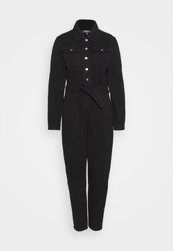 Missguided Petite - BUTTON THROUGH BOILER SUIT  - Jumpsuit - black