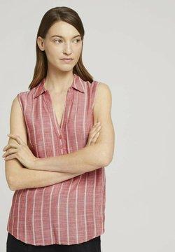 TOM TAILOR - ÄRMELLOSE MIT STREIFEN - Bluse - red stripe vertical