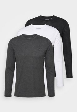 Calvin Klein Golf - LONG SLEEVE 3 PACK - Langarmshirt - black/white/charcoal
