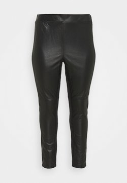 JUNAROSE - by VERO MODA - JRCLARA - Leather trousers - black